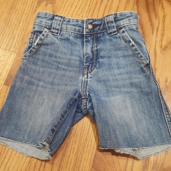 Toddler Boy 12-18 Months Blue Pull-On Cutoff Denim Shorts Jeans Pants GAP Baby